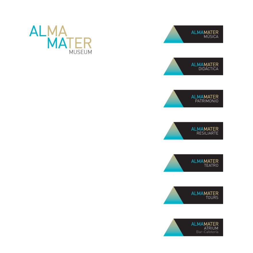 Naming, marca y diseño gráfico Museo Alma Mater - Zaragoza